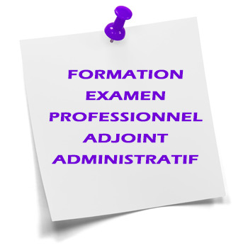 formation examen professionnel adjoint administratif